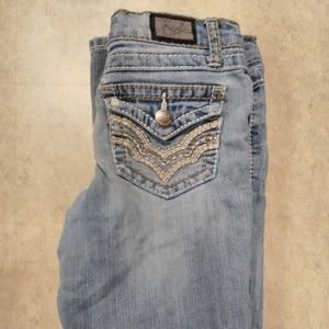 Very worn size 8 girls jeans bootcut